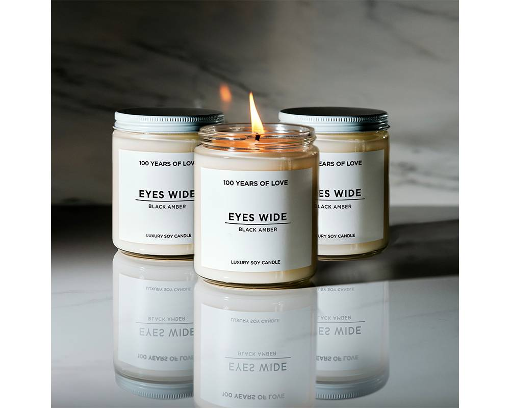 Eyes Wide Black Amber Candle