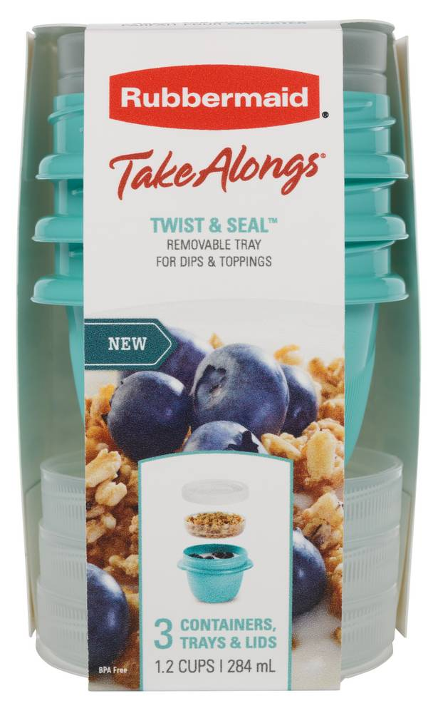 Rubbermaid TakeAlongs On The Go - Twist & Seal Container