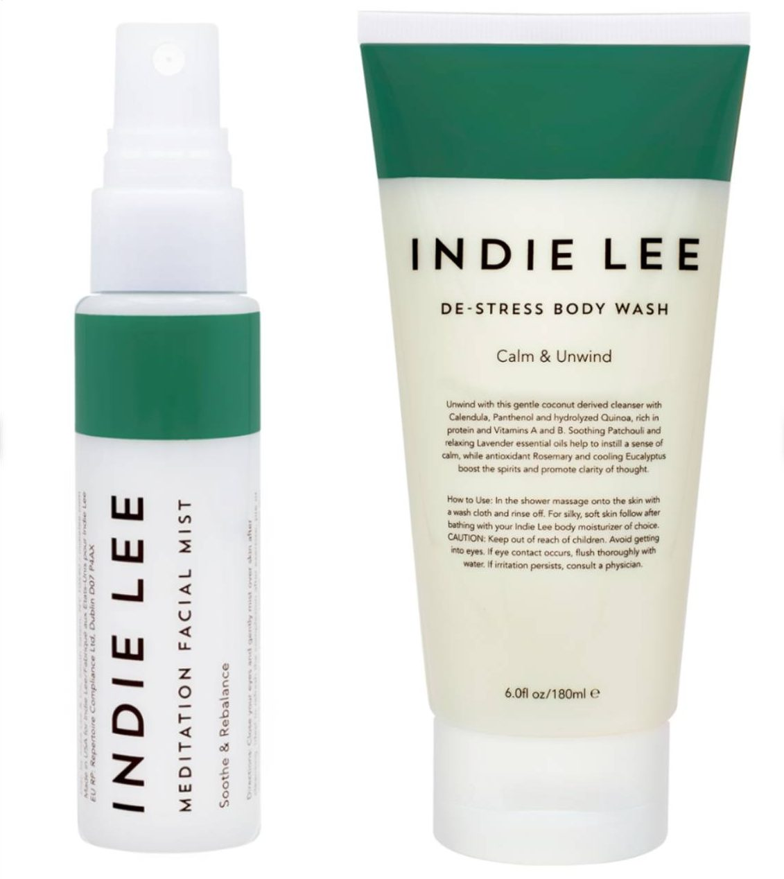 Indie Lee De-Stress Body Wash  and Meditation Facial Mist